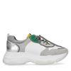 Dad sneakers groen/geel