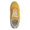 Okergele dad sneakers met luipaard detail