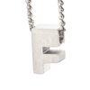 LUZ - zilveren bedel letter F