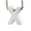 LUZ - zilveren bedel letter X