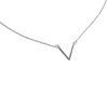 LUZ - Zilveren V ketting