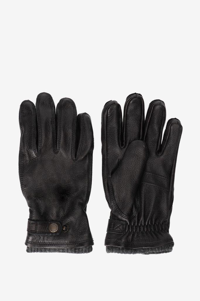 Hestra Zwarte handschoenen leer
