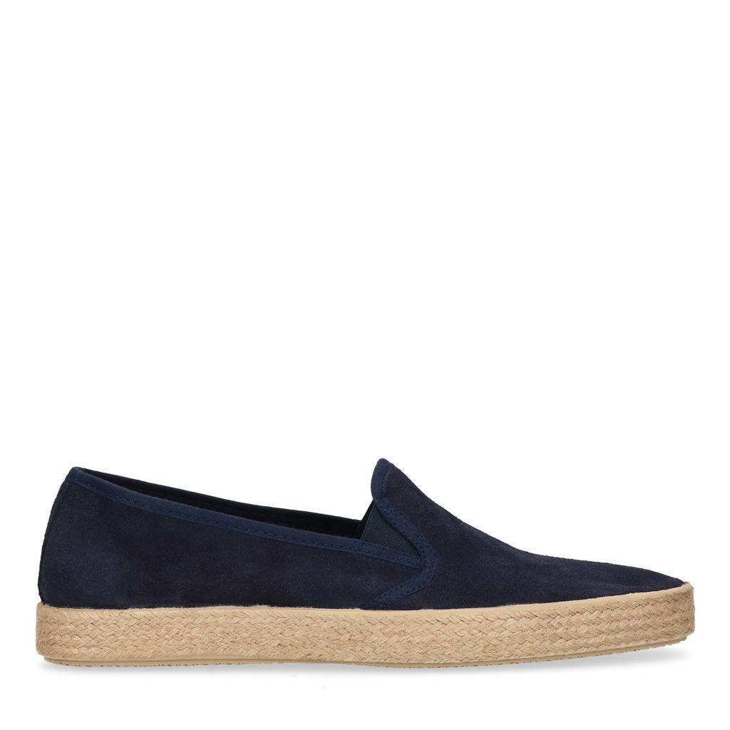 Blauw suède loafers