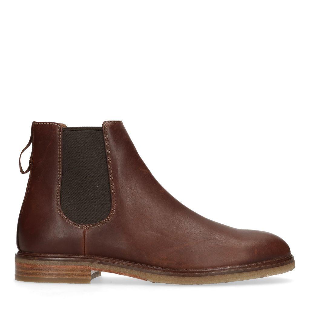 Bruine leren chelsea boots Gobi