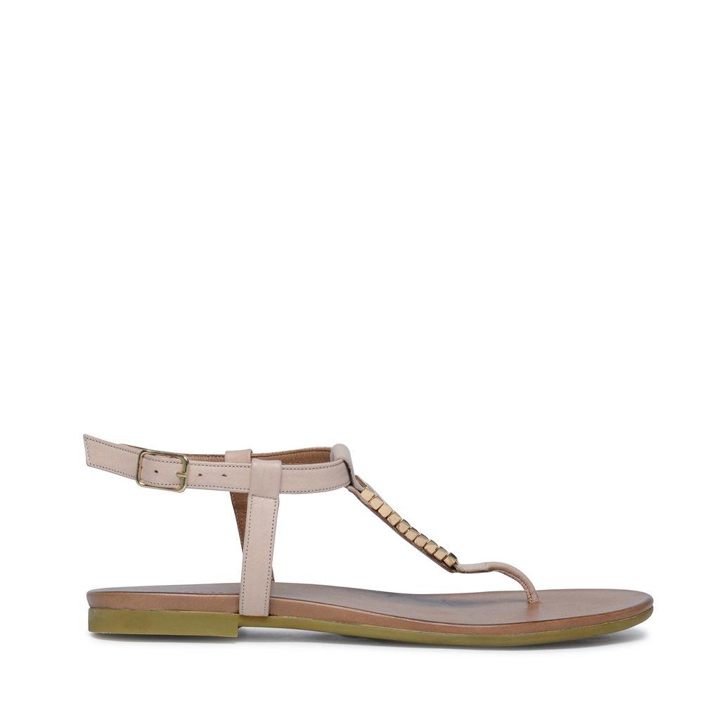 Nude leren sandalen (Maat 41)