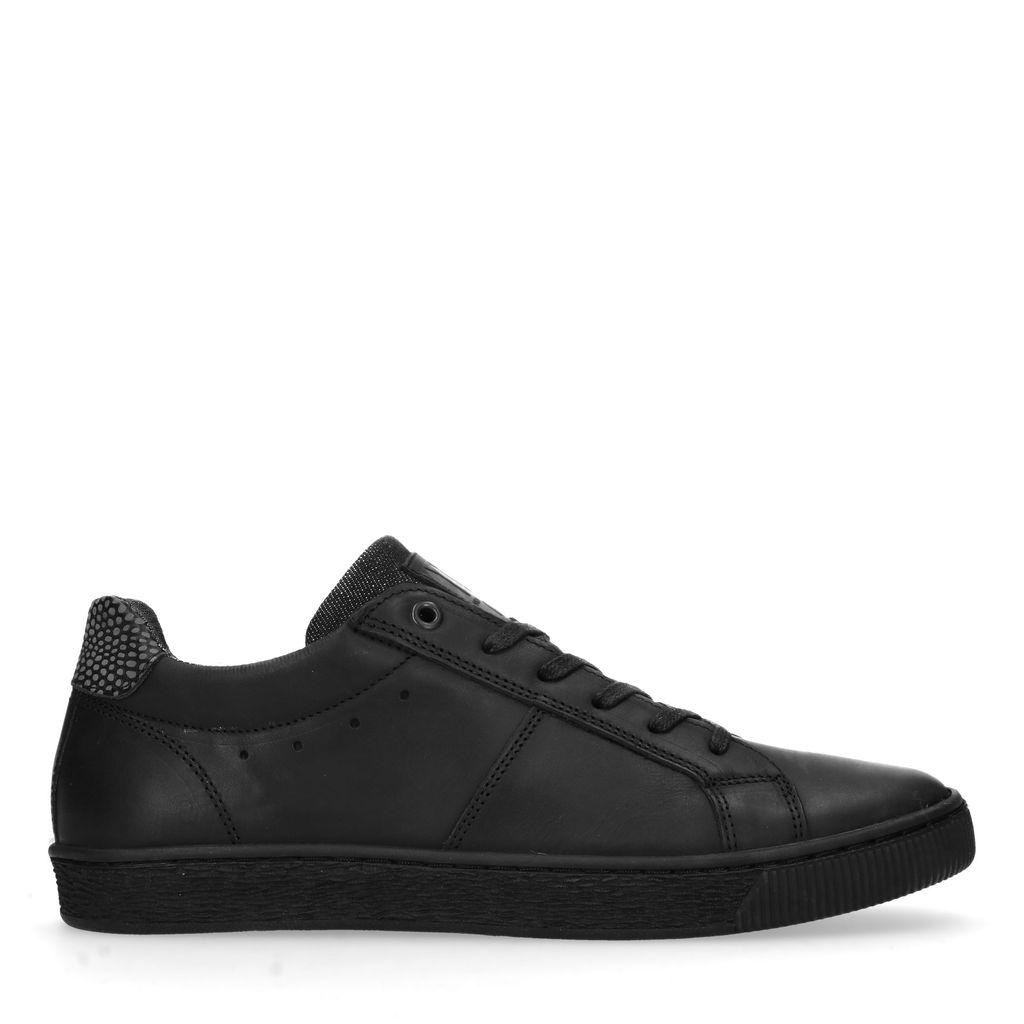 Zwarte leren sneakers (Maat 40)