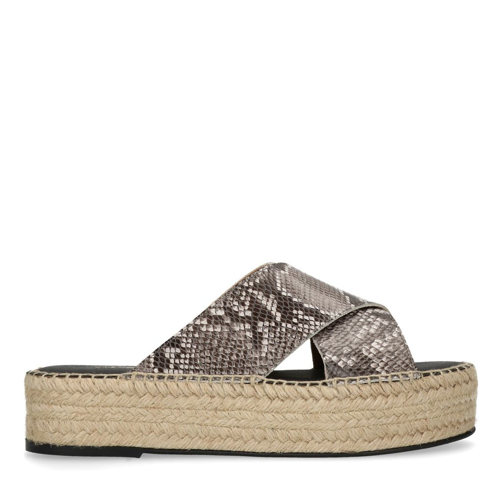 Snakeskin platform slippers (Maat 39)