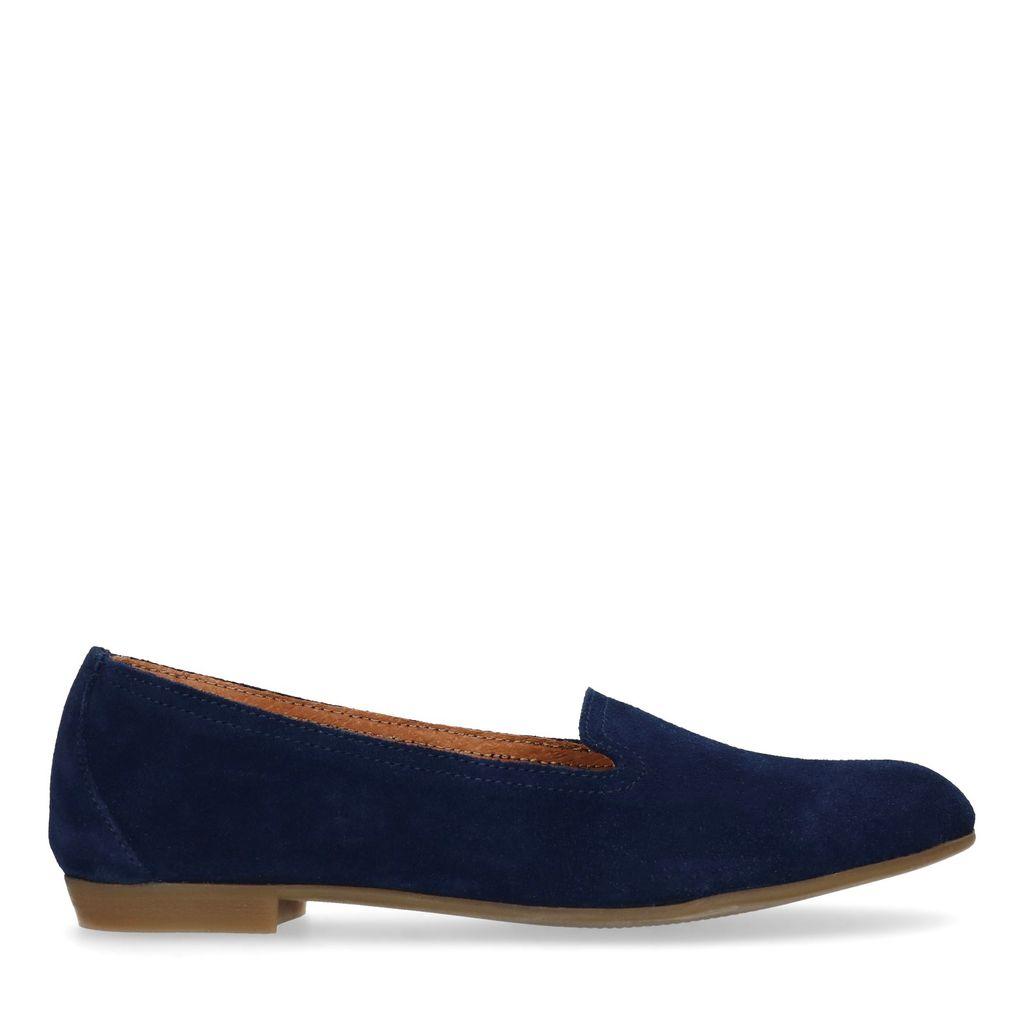 Donkerblauwe suède loafers (Maat 37)