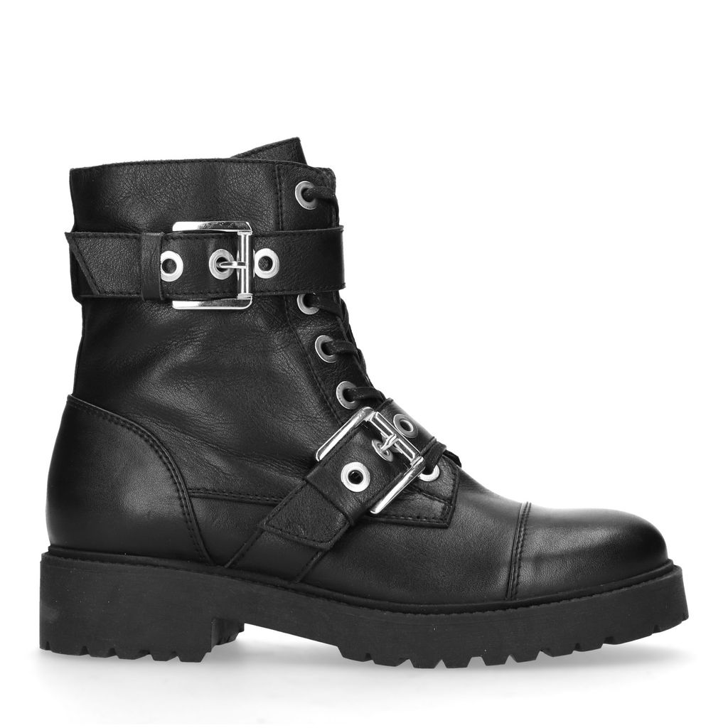 Zwarte biker boots met gespen (Maat 39)