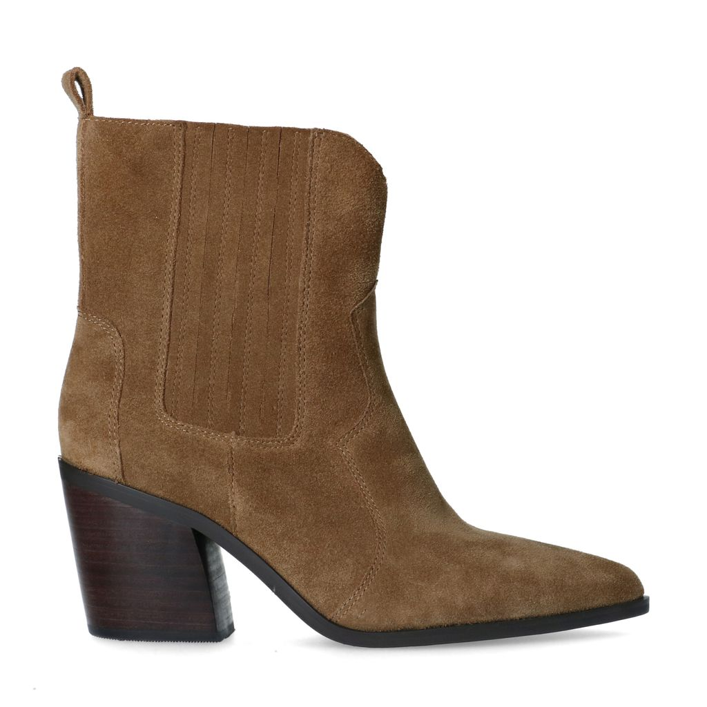 Sacha Taupe suède western boots  - bruin