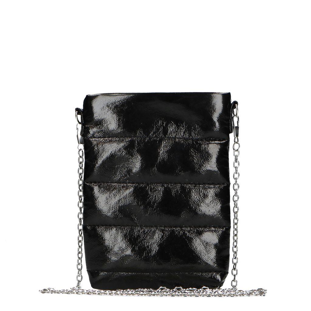 Sacha Zwarte lakleren schoudertas  - zwart