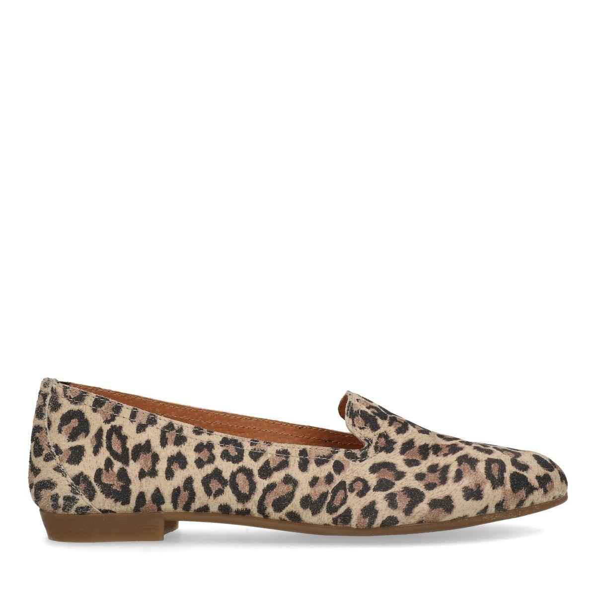 Loafers en daim avec imprimé léopard (Maat 37)