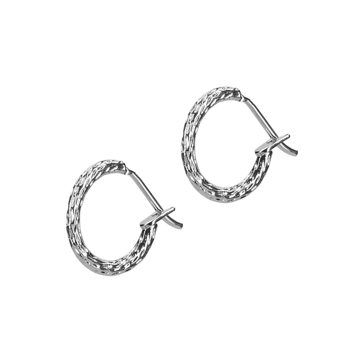 Boucles d'oreille nervurées - argenté (Maat Onesize) - LUZ - Modalova