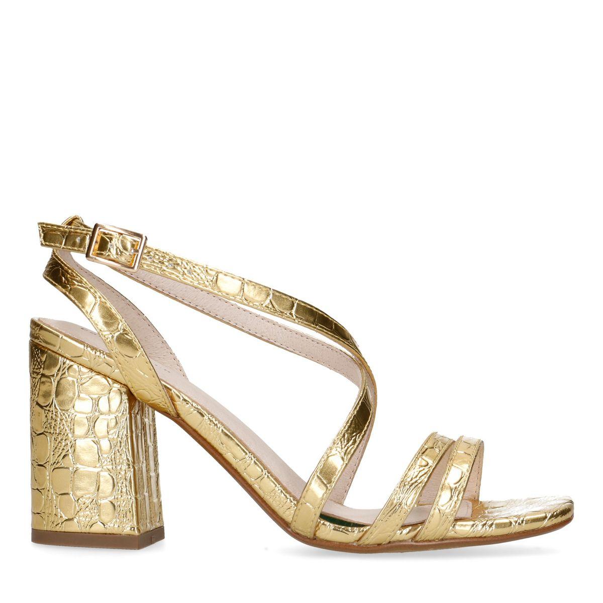 Sandales synthétique métallisées avec talon - doré (Maat 42)