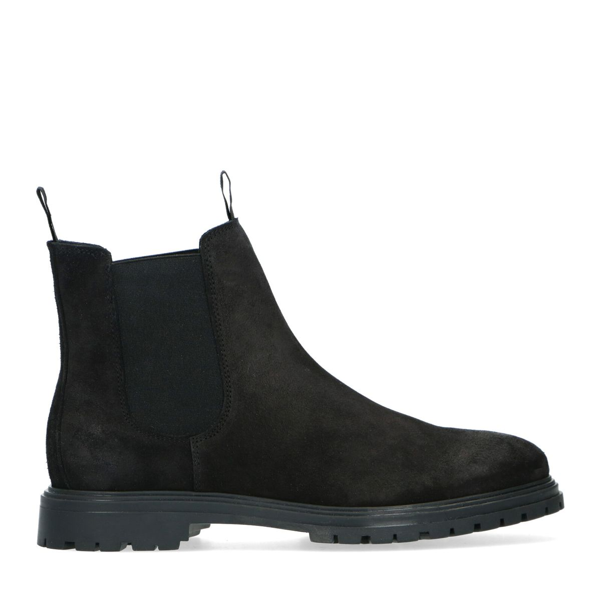 Chelsea boots en daim - noir - Sacha - Modalova