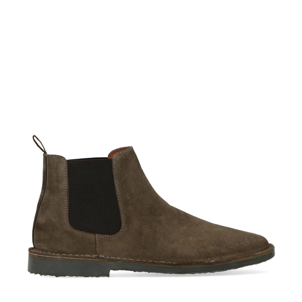 Chelsea boots en daim - kaki - Sacha - Modalova