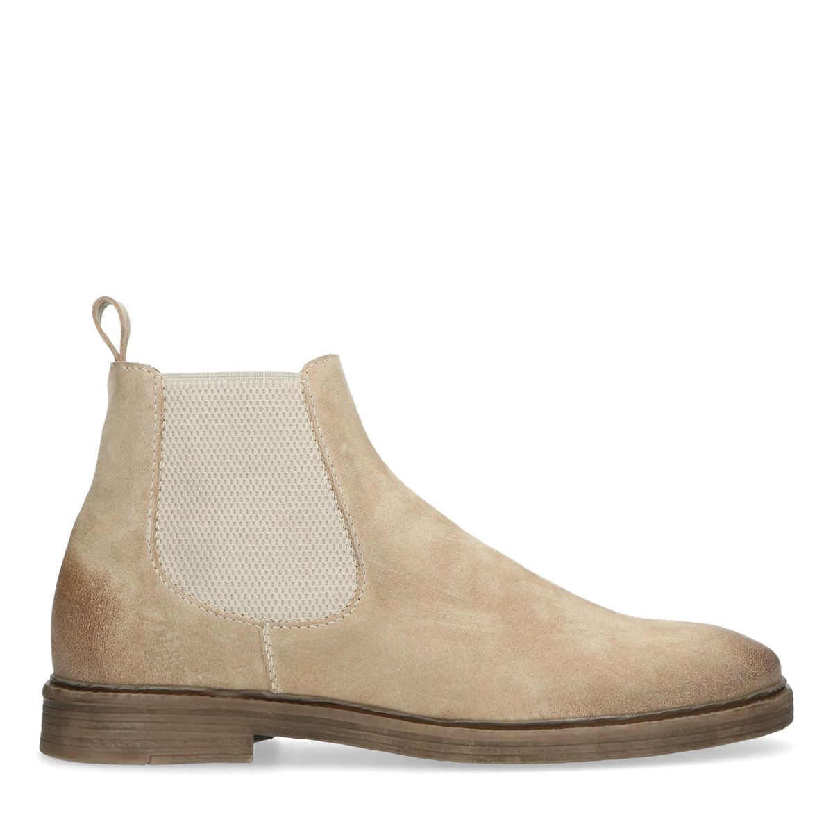 Chelsea boots en daim - beige - Sacha - Modalova