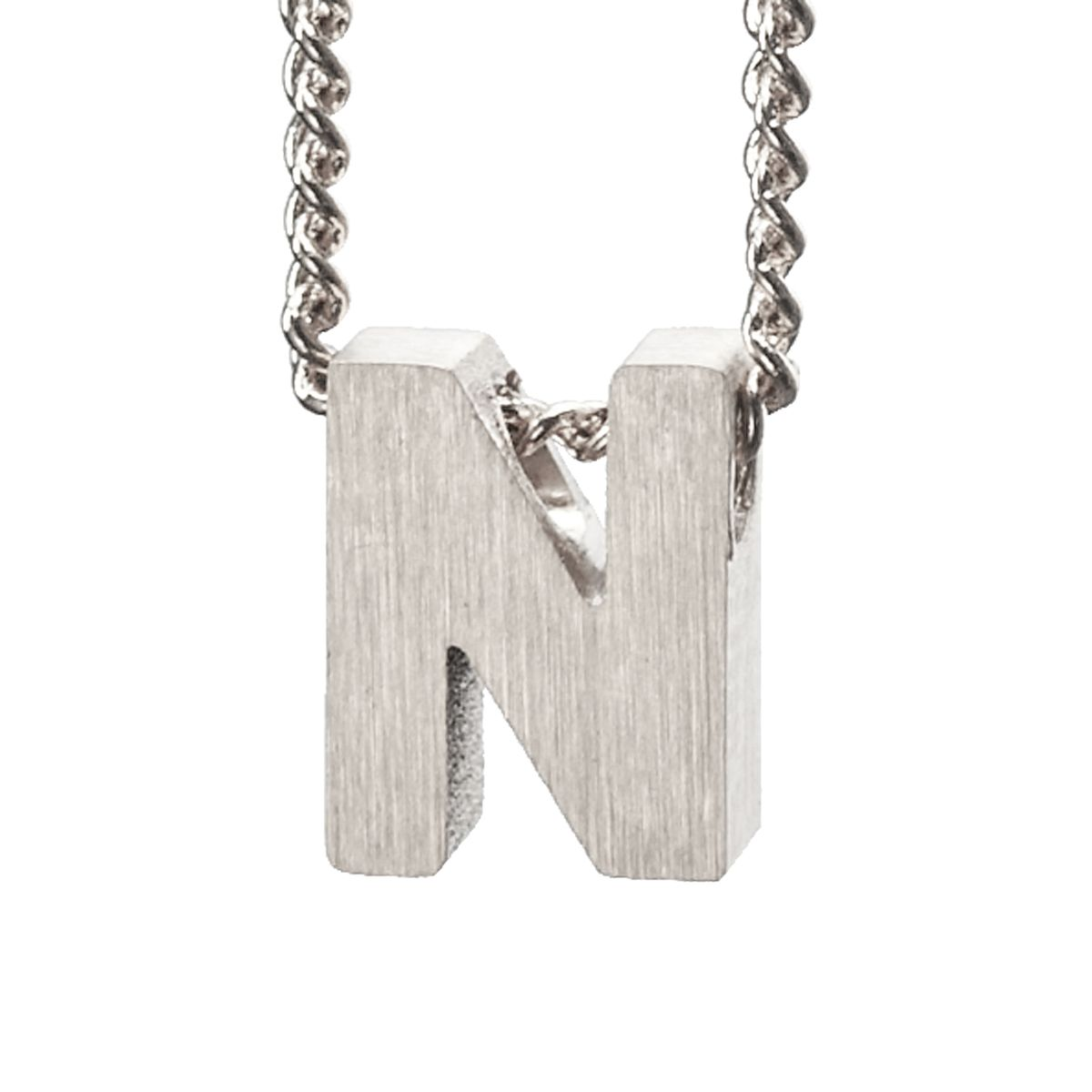 Breloque lettre N - argenté (Maat Onesize) - LUZ - Modalova