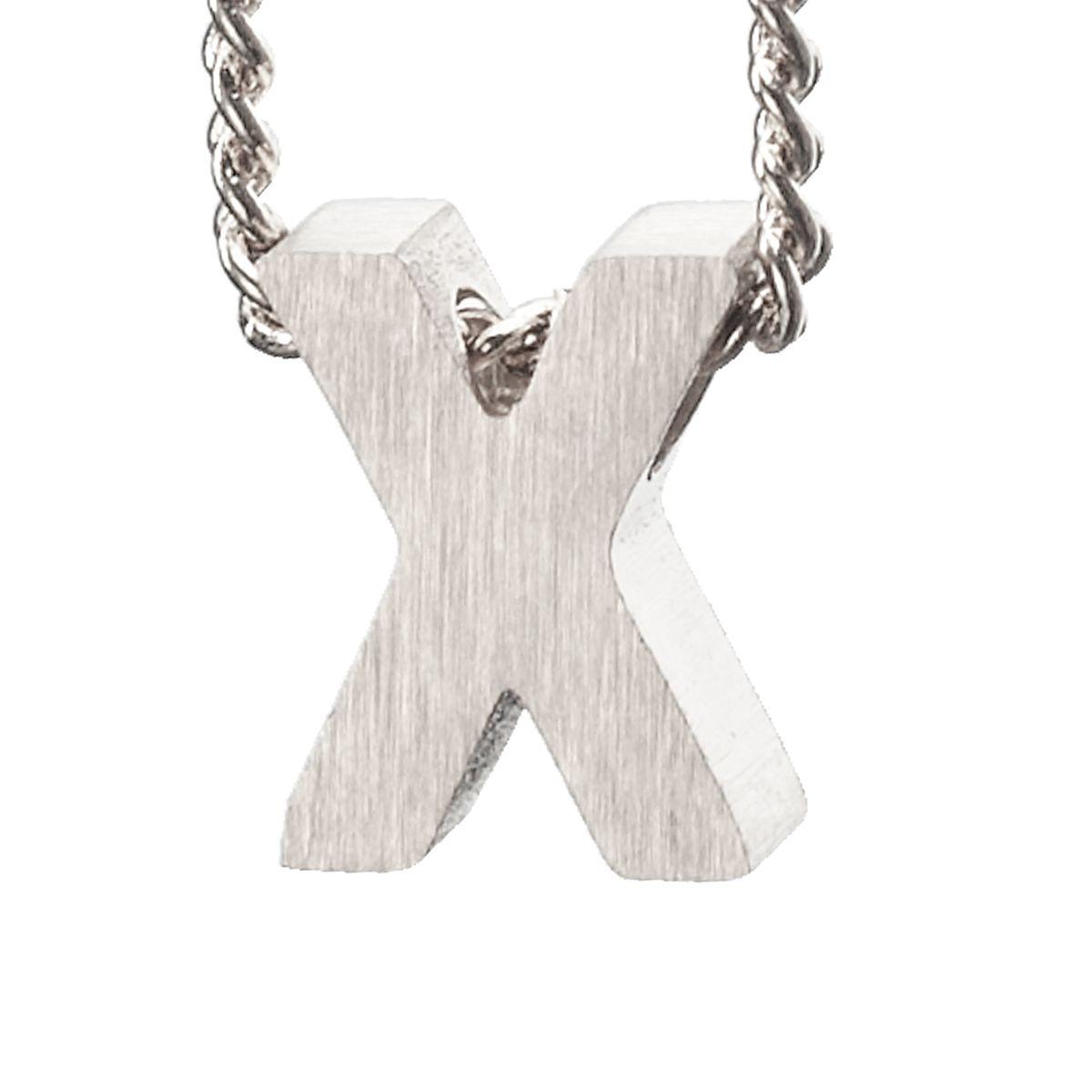 Breloque lettre X - argenté (Maat Onesize) - LUZ - Modalova