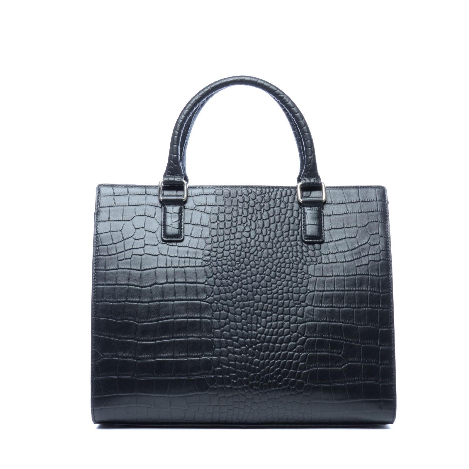 Zwarte snakeskin tas Tassen | MANFIELD