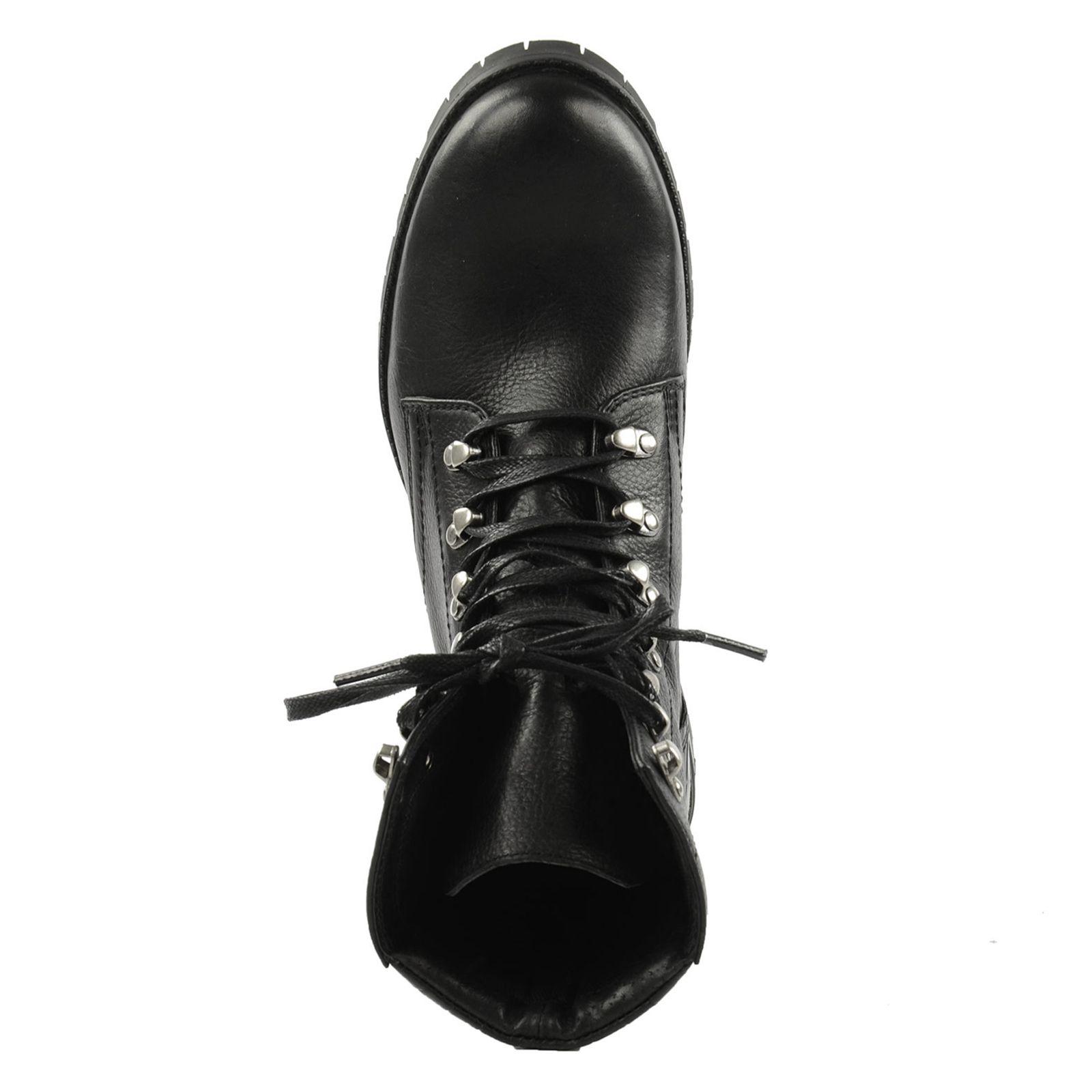 Lässige schwarze Schnürstiefeletten