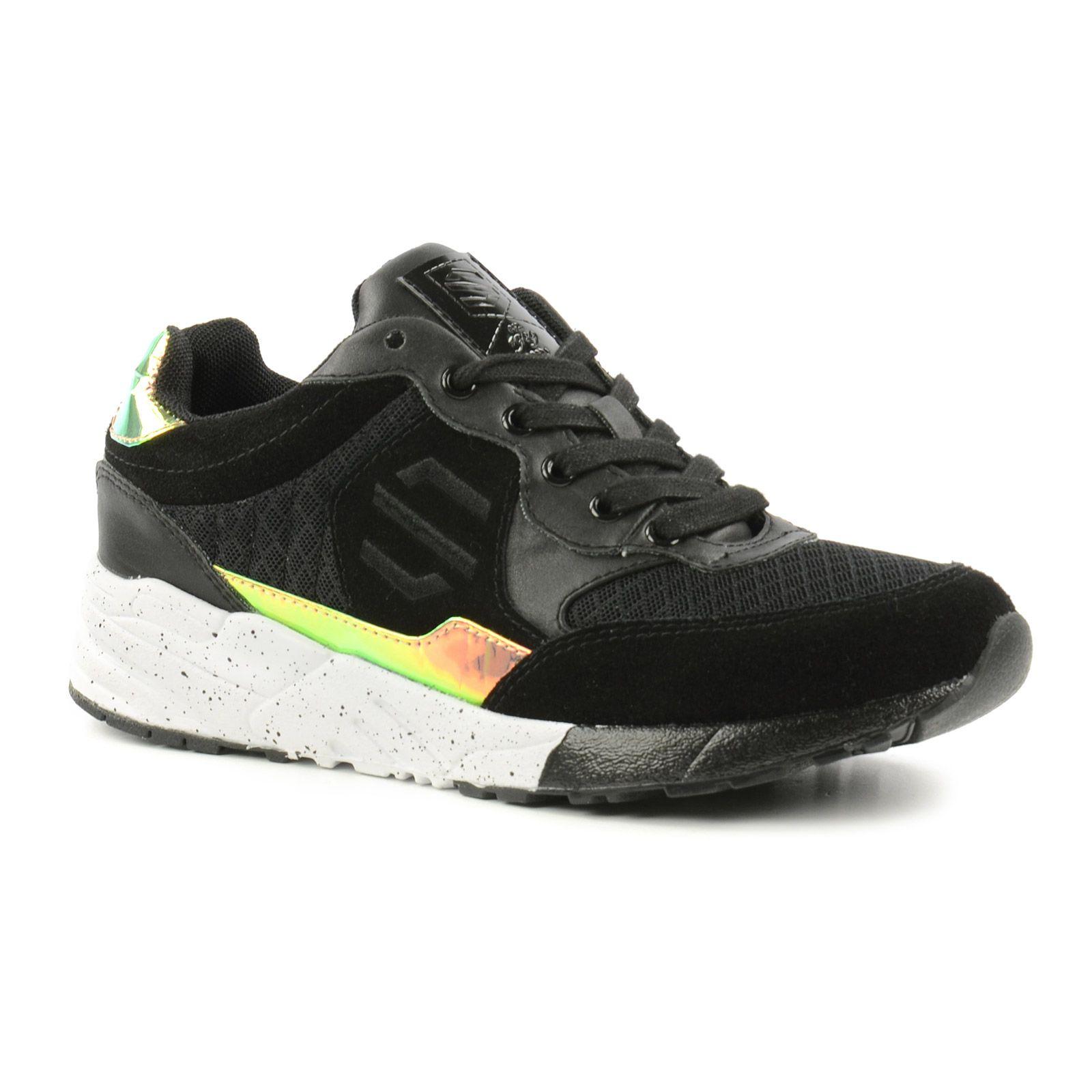 Schwarze Metallic-Sneaker