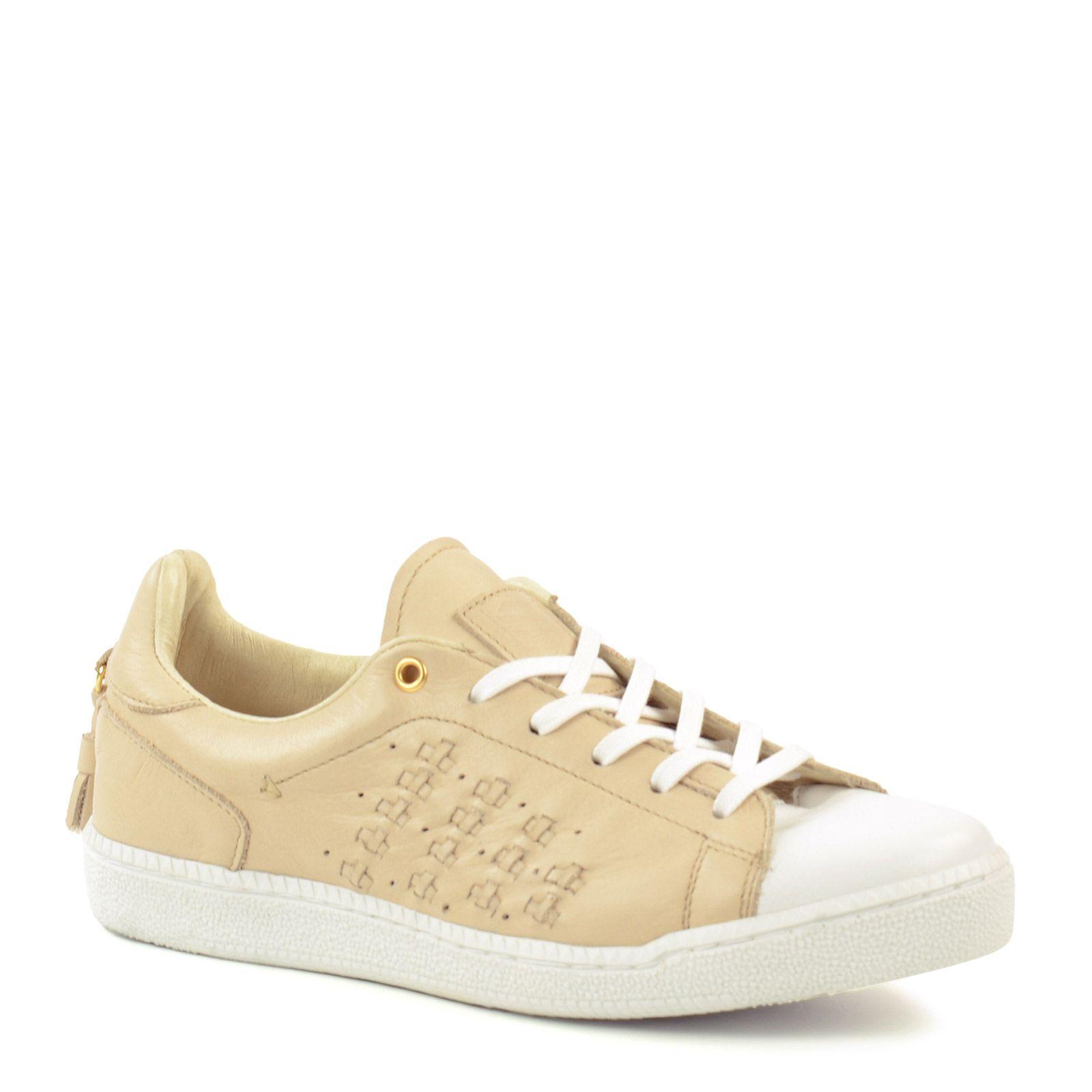 Leder-Sneaker offwhite