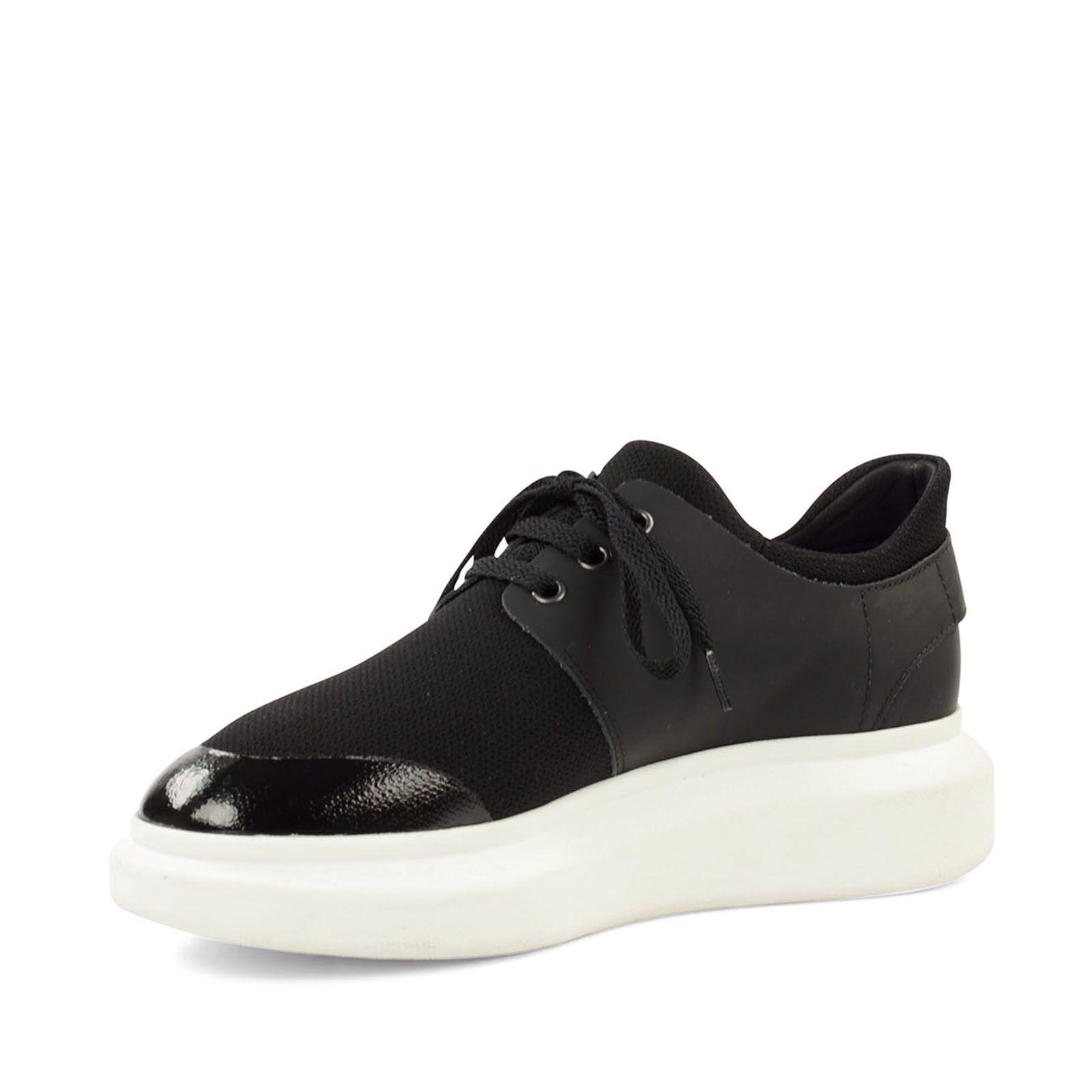 Plateau-Sneaker schwarz