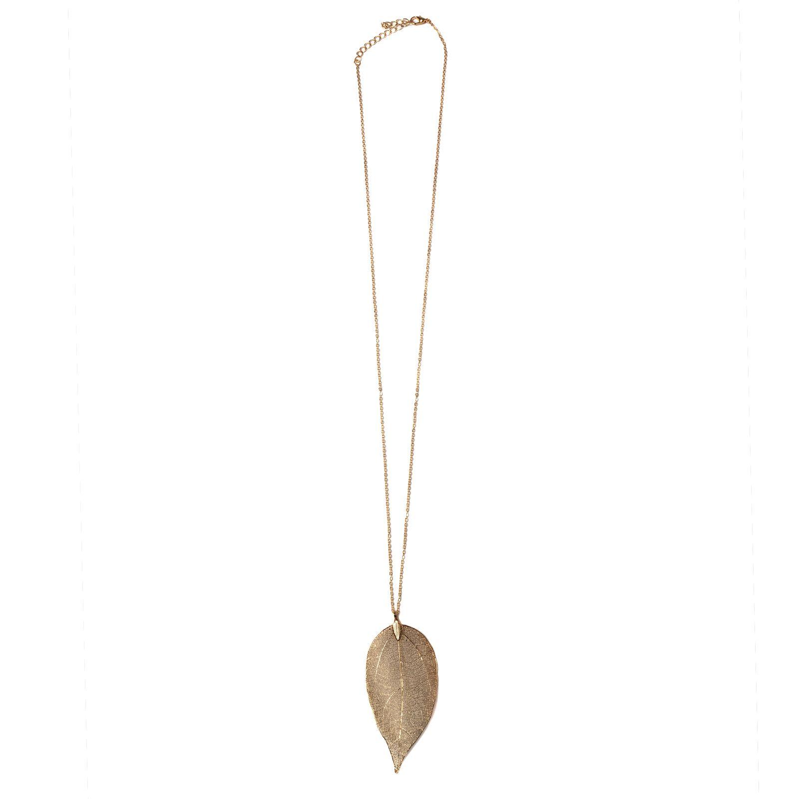 Goudkleurige ketting met blad
