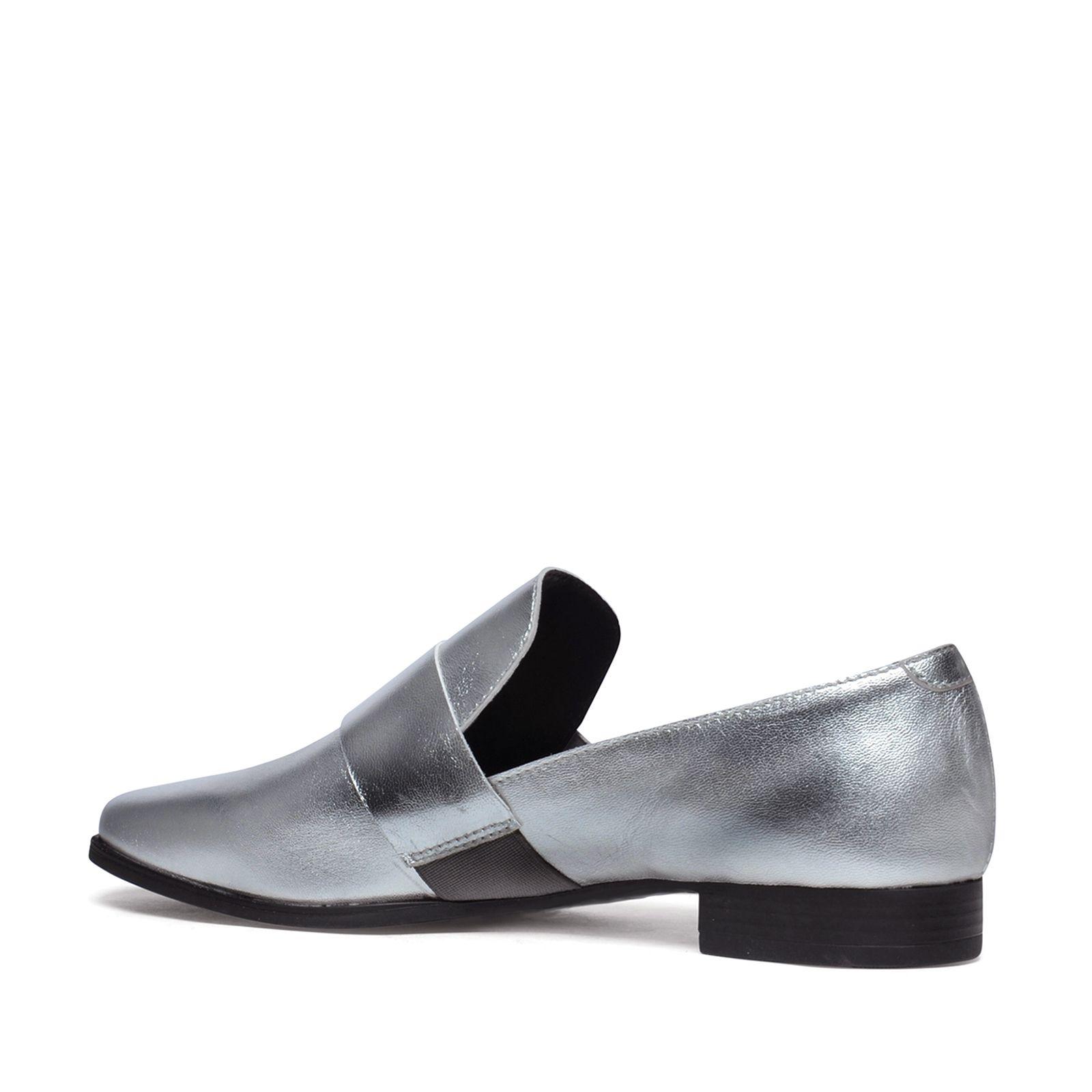Metallic loafers zilver
