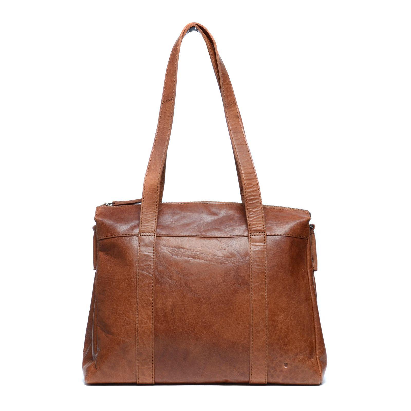Cognacfarbene Handtasche (Onesize) Manfield