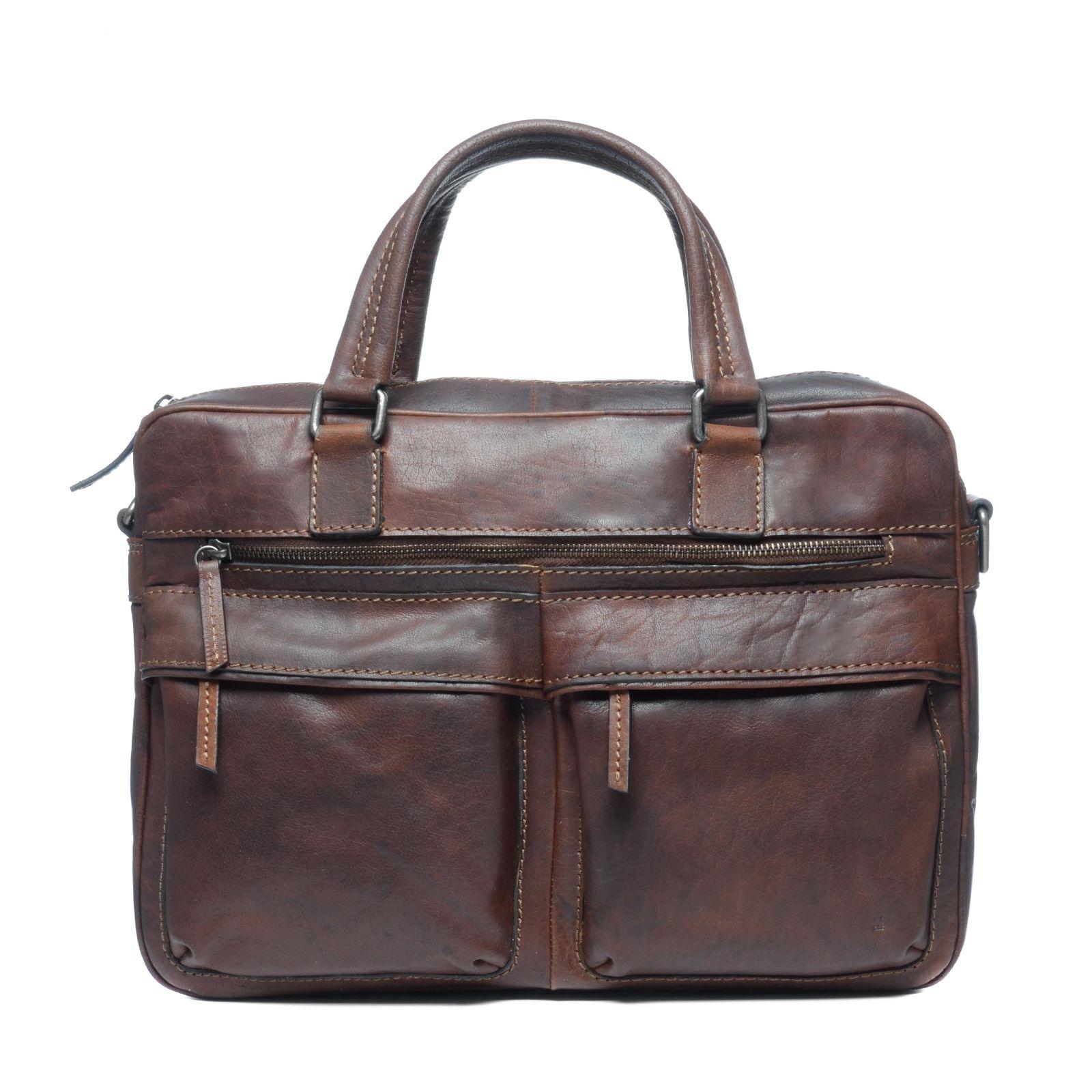 435ee5309dd Cognac kleurige laptoptas - Tassen | MANFIELD