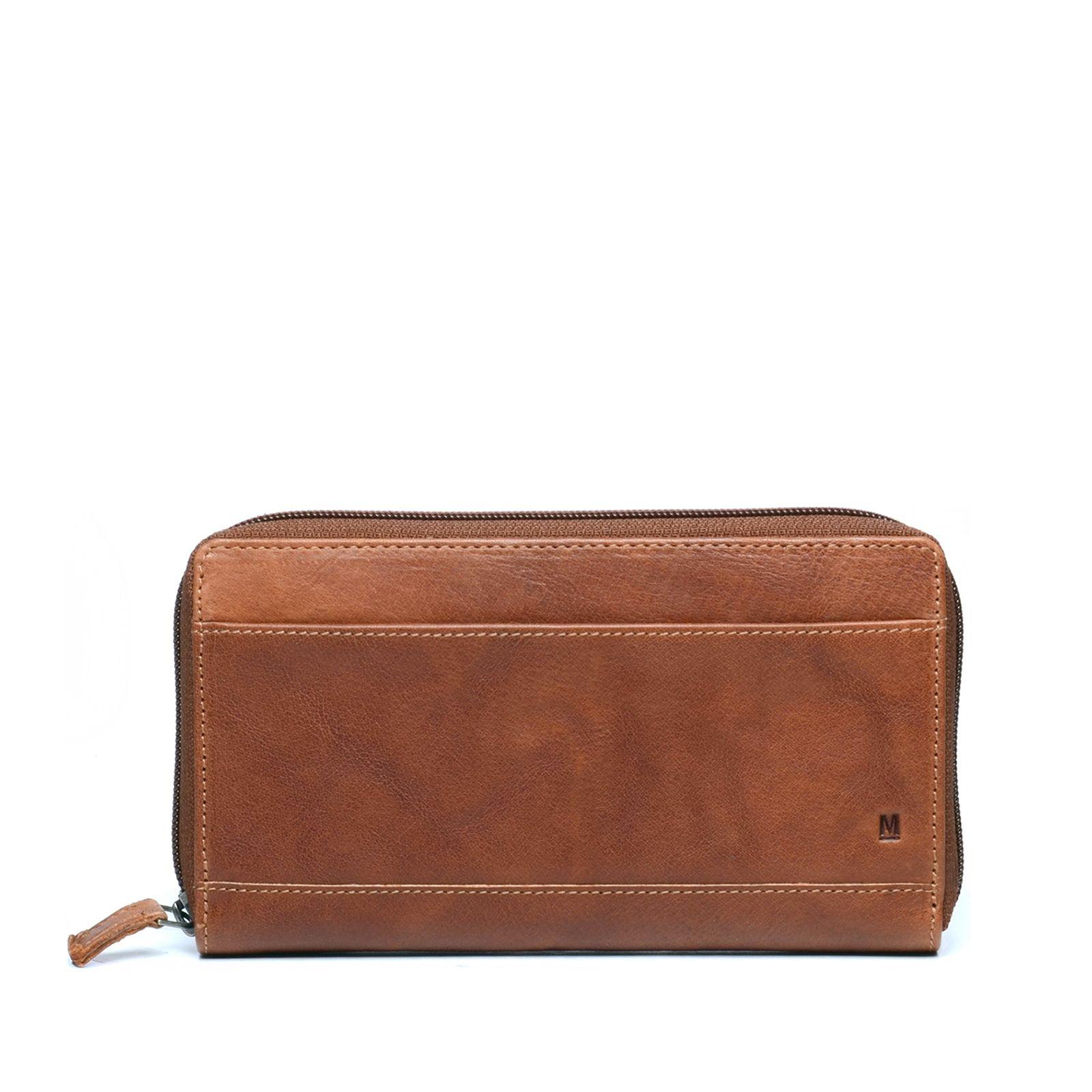 92cdeed38e5 Leren portemonnee cognac - Accessoires | MANFIELD