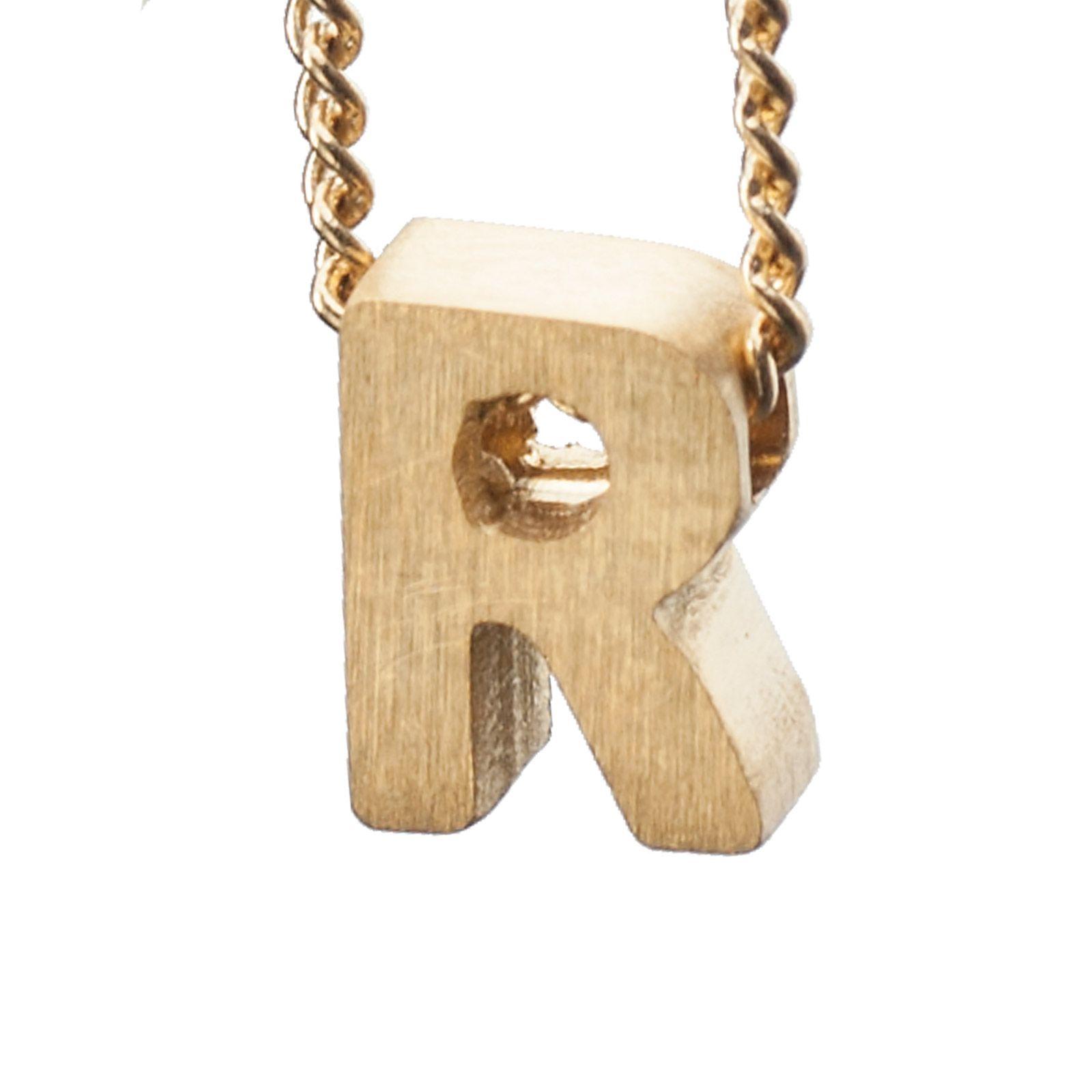 LUZ - goldener Anhänger R