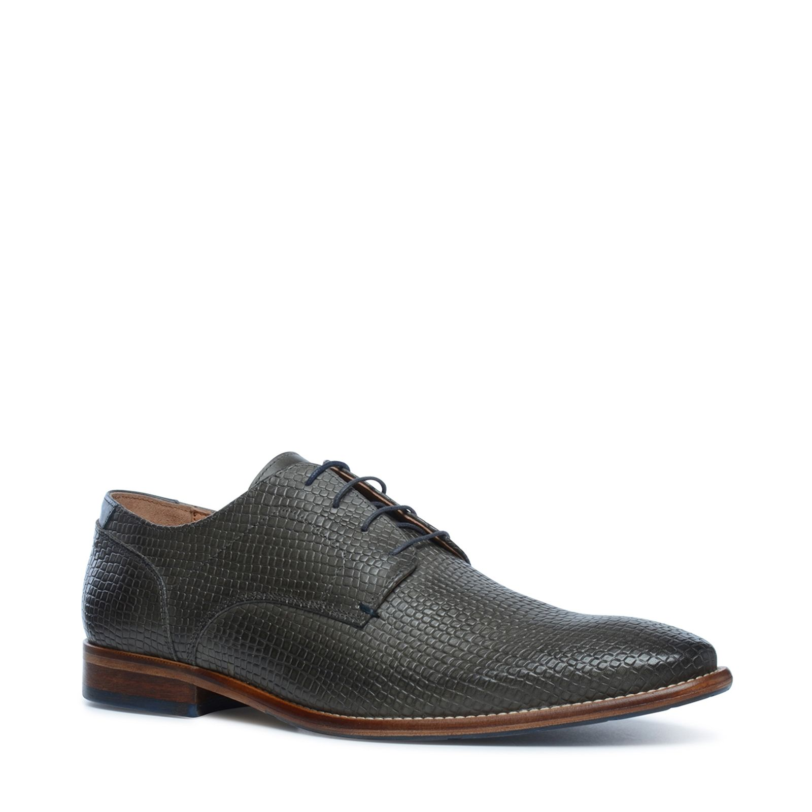 Graue schn rschuhe mit muster for Graue tapete mit muster