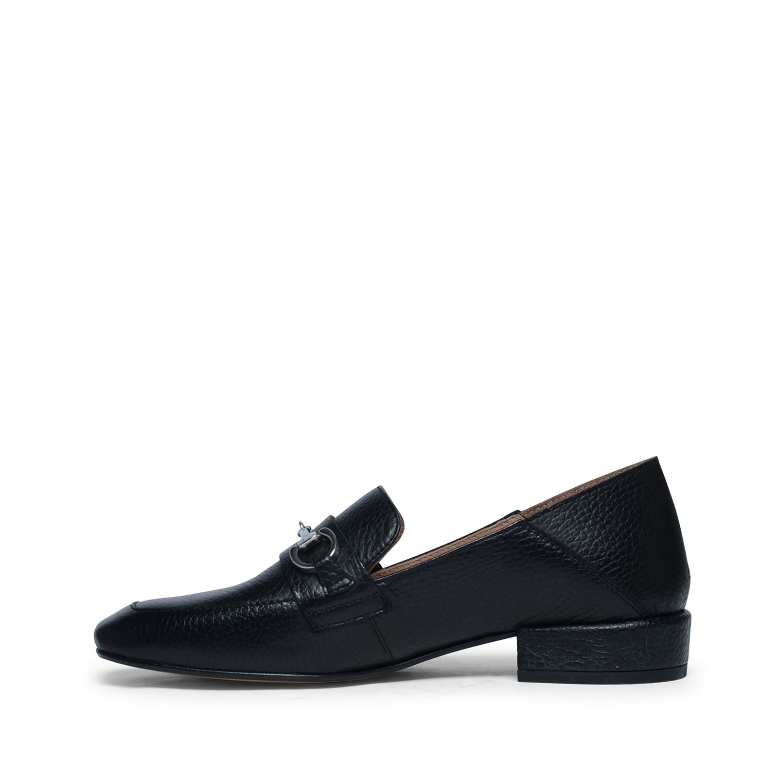 schwarze loafer mit kleinem absatz. Black Bedroom Furniture Sets. Home Design Ideas