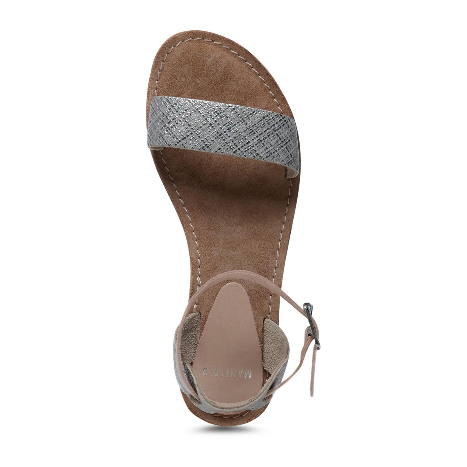 silberne sandalen mit wei er sohle. Black Bedroom Furniture Sets. Home Design Ideas