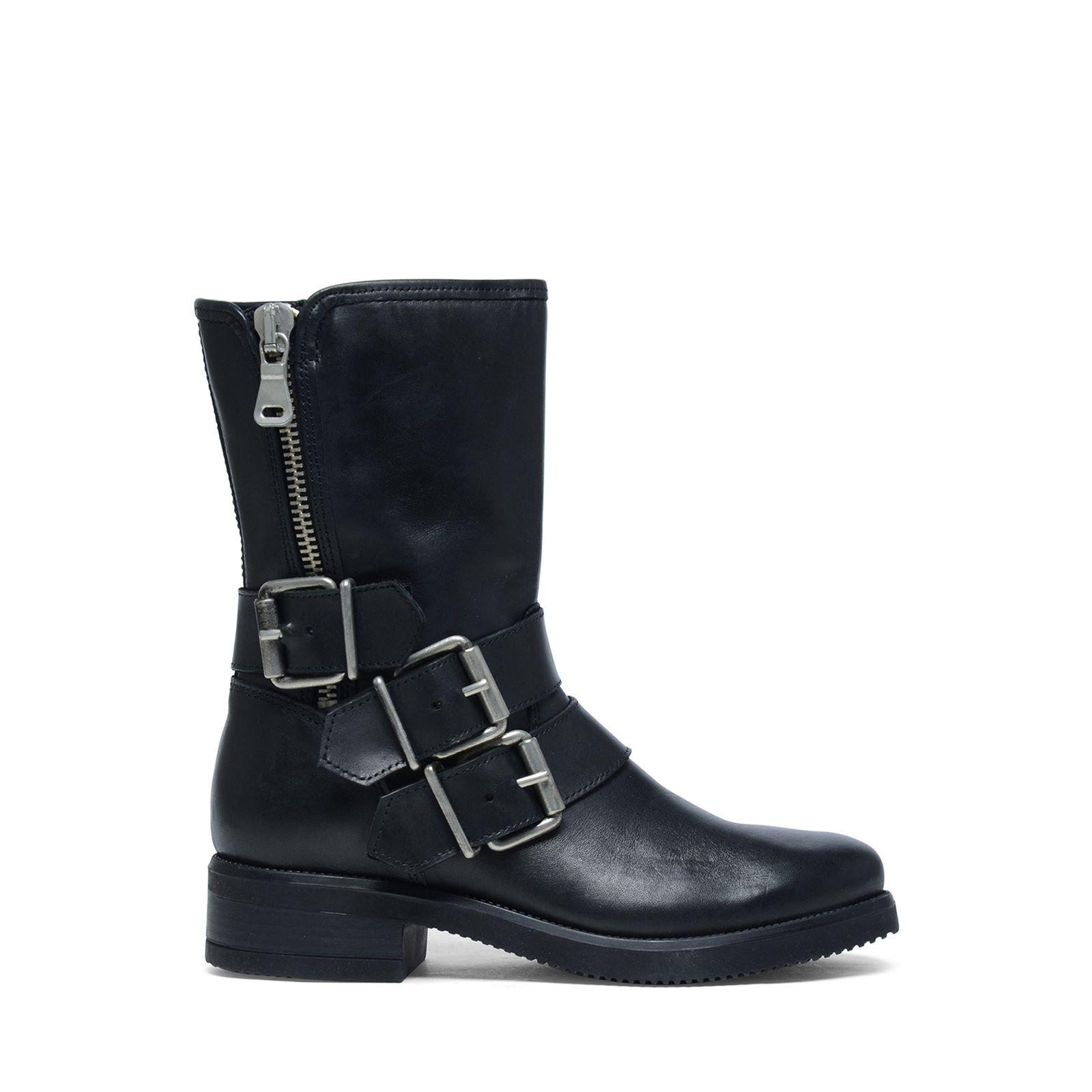 schwarze damen boots black round toe chunky rivet lace up. Black Bedroom Furniture Sets. Home Design Ideas