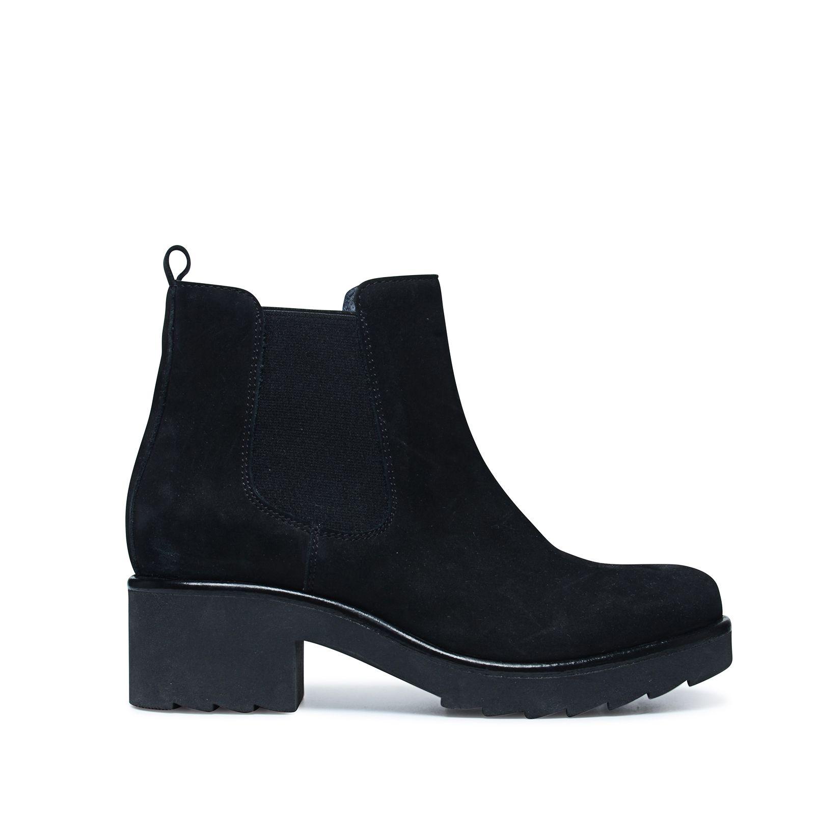 schwarze chelsea boots mit plateau. Black Bedroom Furniture Sets. Home Design Ideas