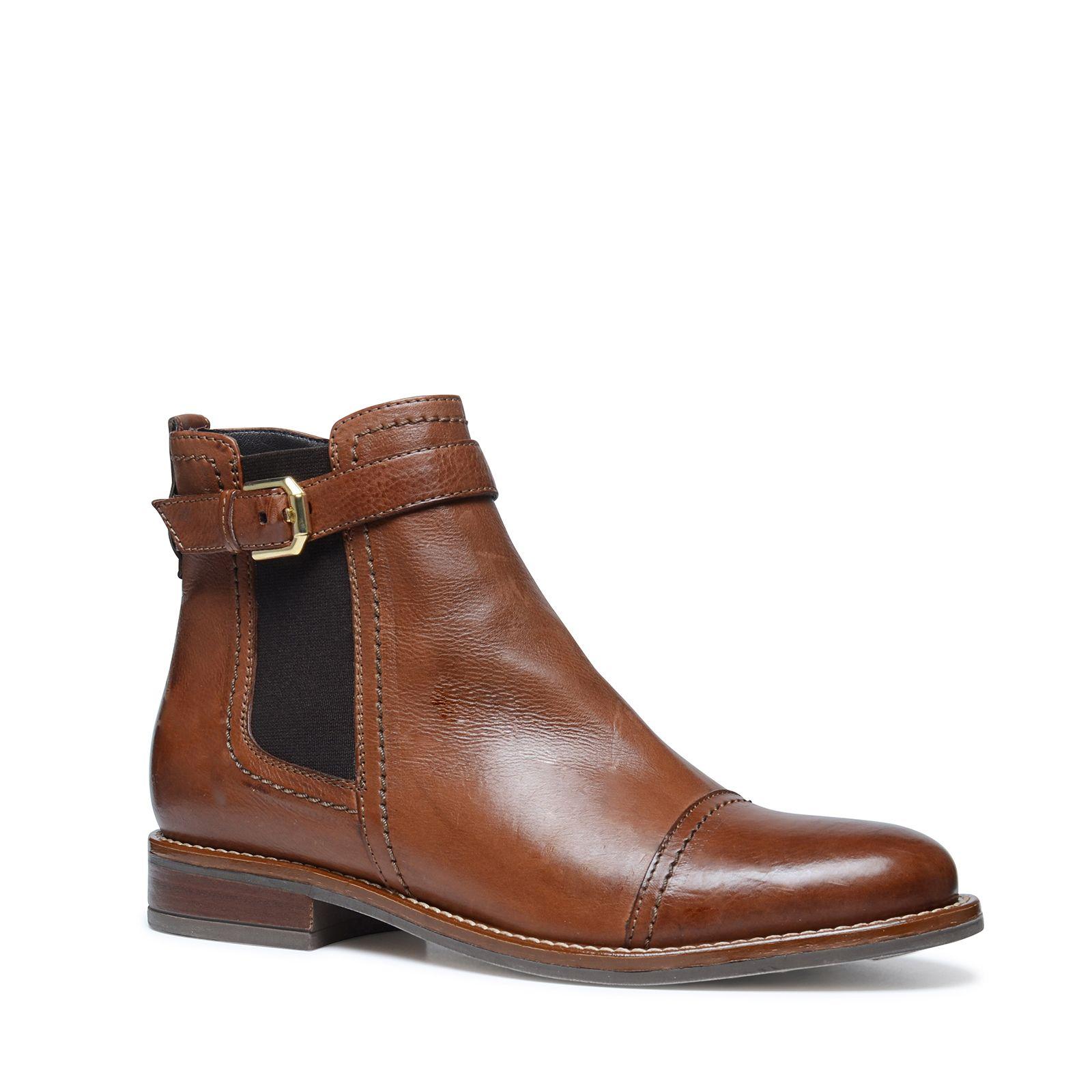 Cognac Chelsea Boots Dames Manfield