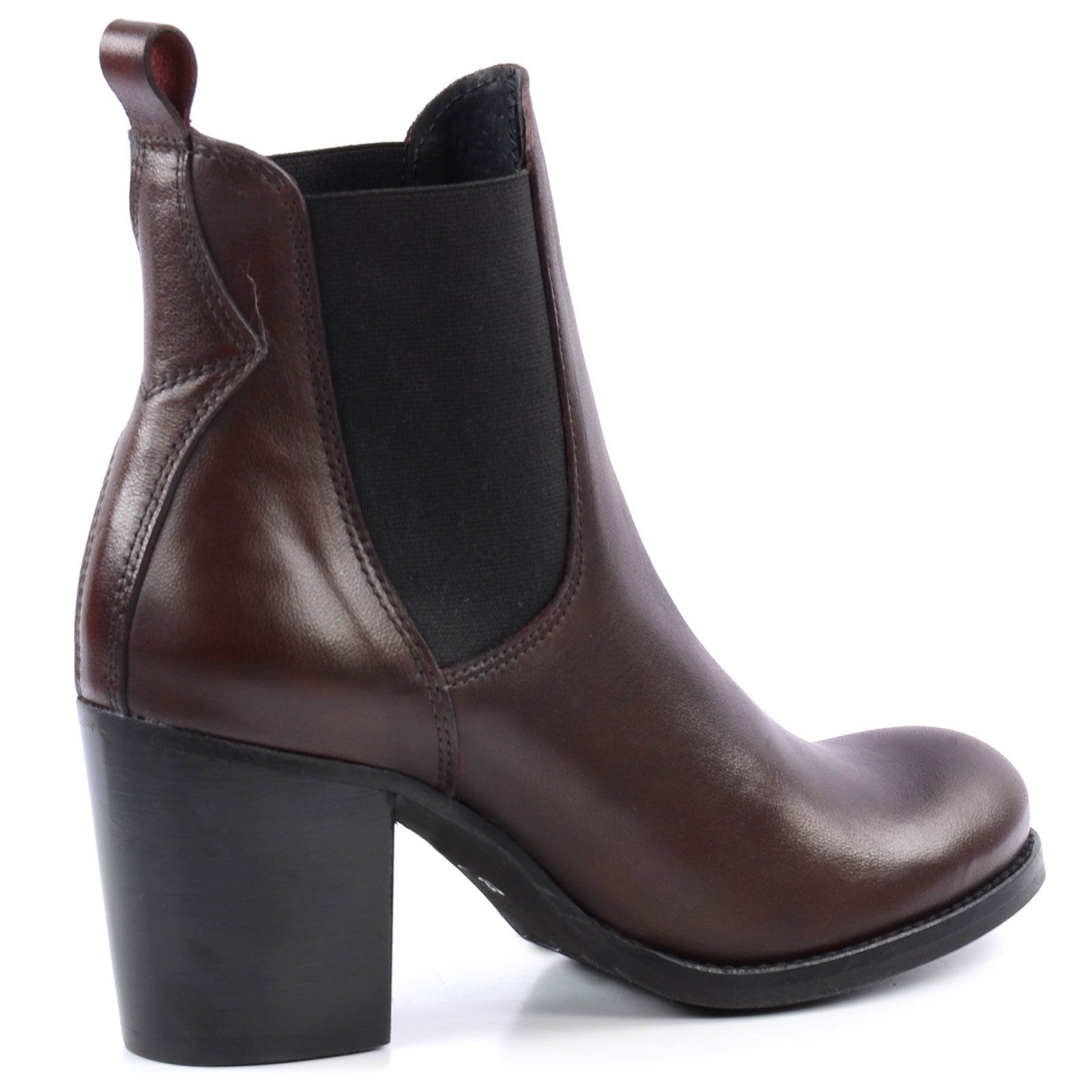 chelsea boots mit blockabsatz bordeaux damenschuhe. Black Bedroom Furniture Sets. Home Design Ideas