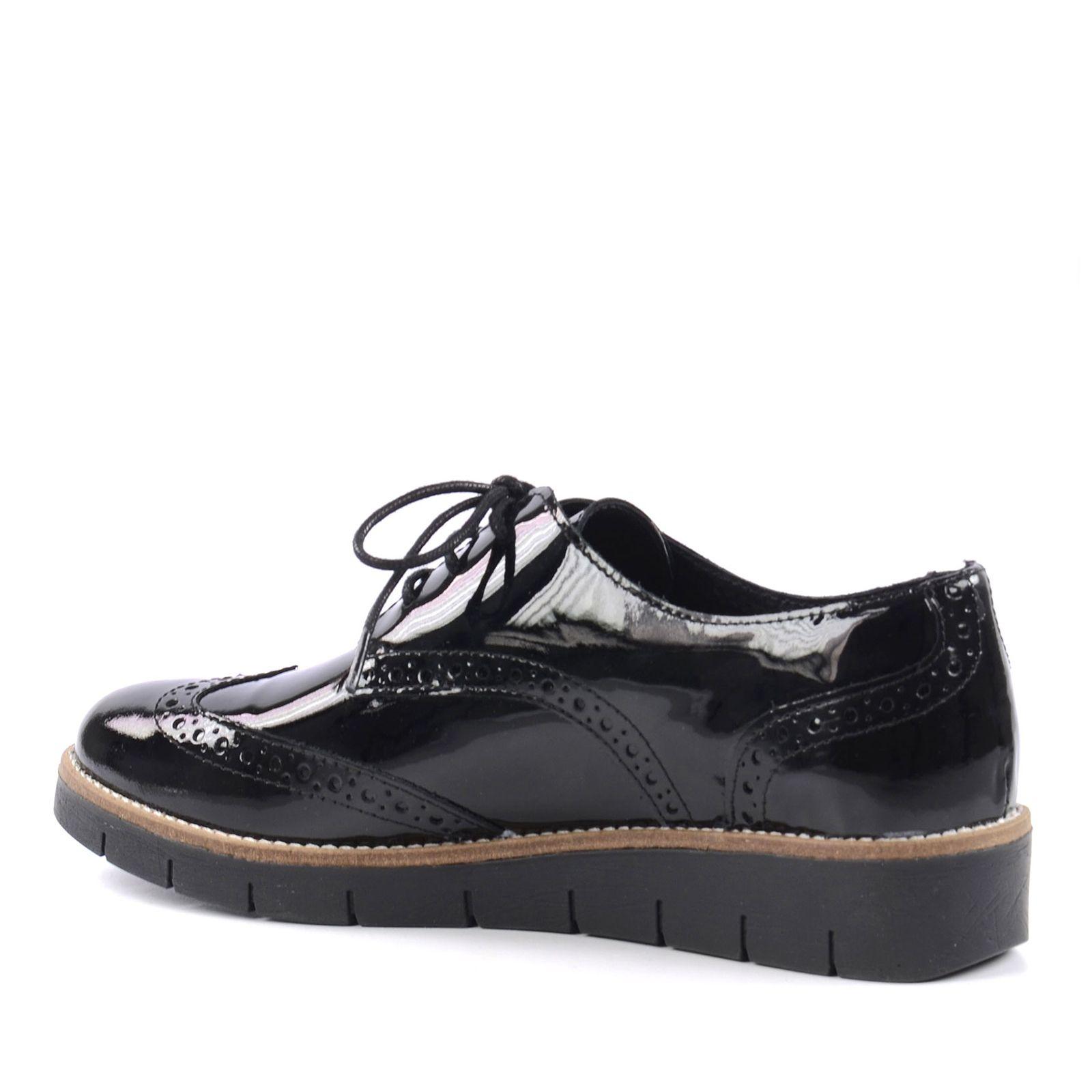 chaussures plateau brogue noir femmes. Black Bedroom Furniture Sets. Home Design Ideas
