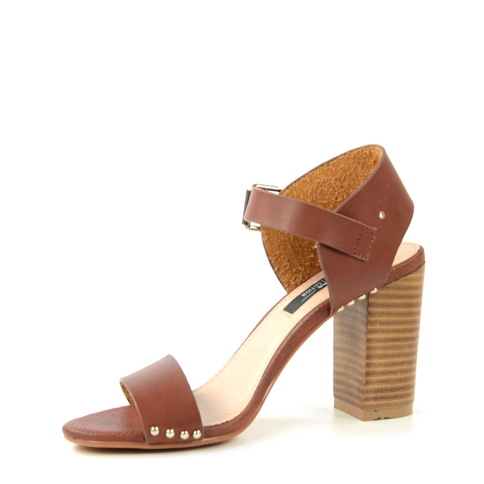 braune sandalen mit blockabsatz damenschuhe. Black Bedroom Furniture Sets. Home Design Ideas