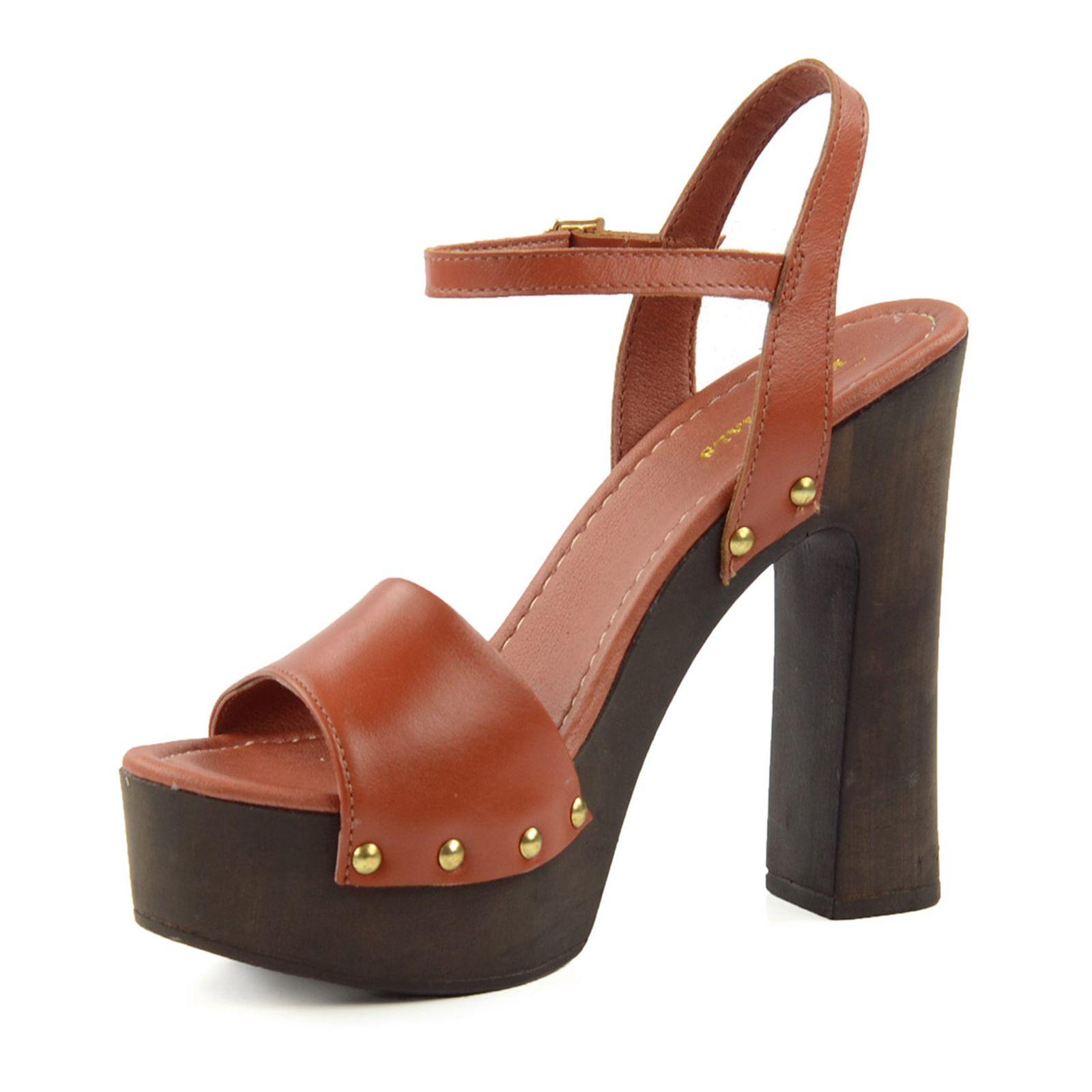 70s sandalen mit blockabsatz damenschuhe. Black Bedroom Furniture Sets. Home Design Ideas