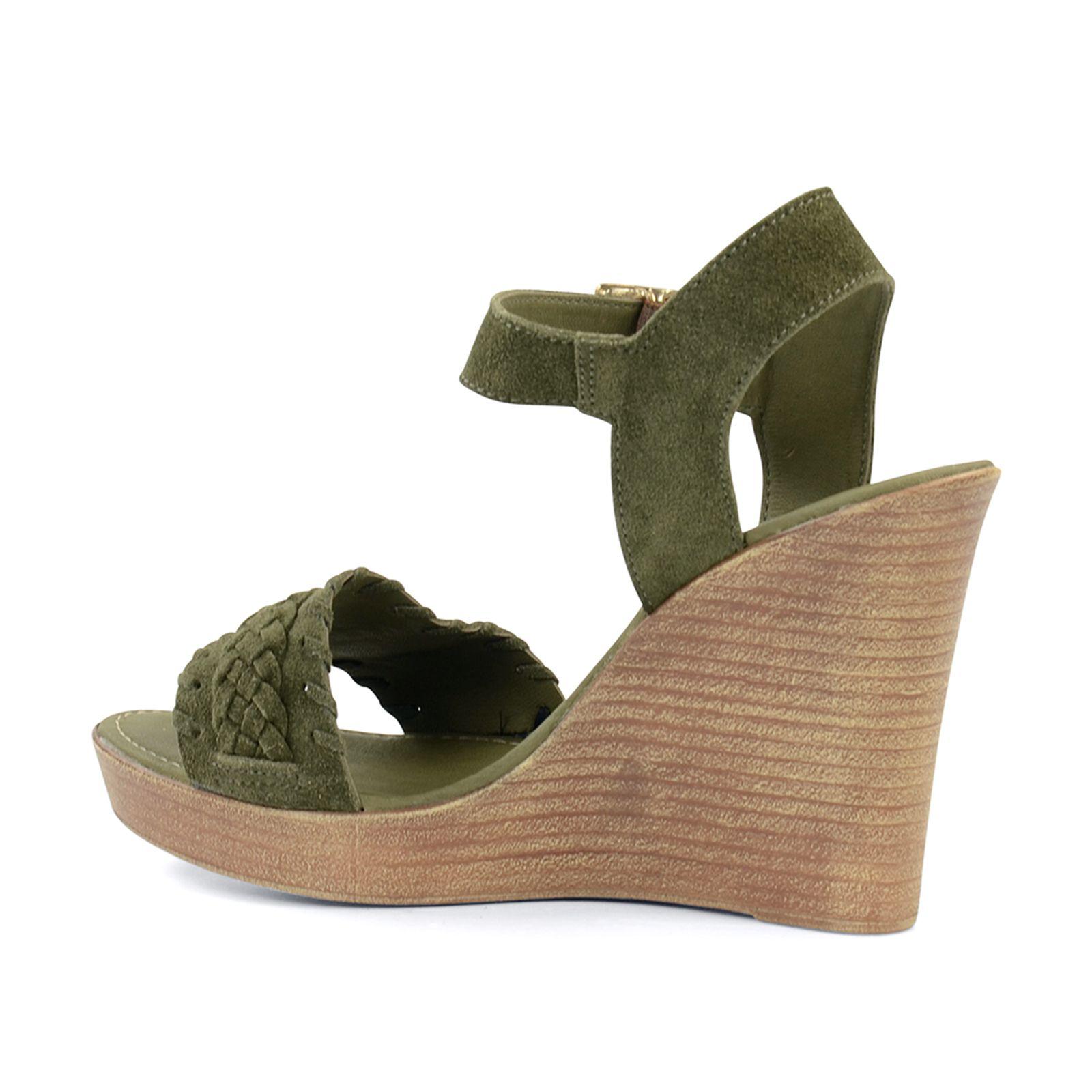 Grune Farbe Wow : Grüne Keilsandaletten  Damenschuhe  4999  SachaSchuhede