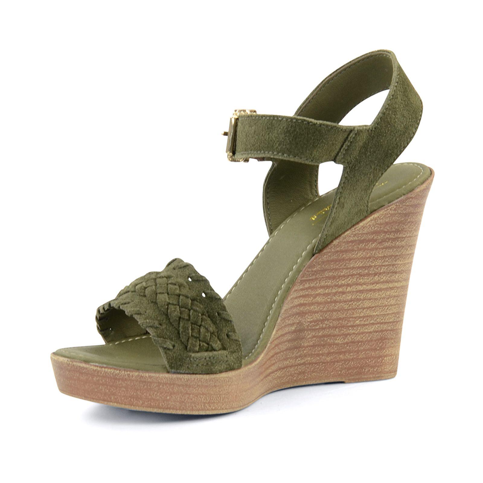Grüne Keilsandaletten  Damenschuhe  4999  SachaSchuhede