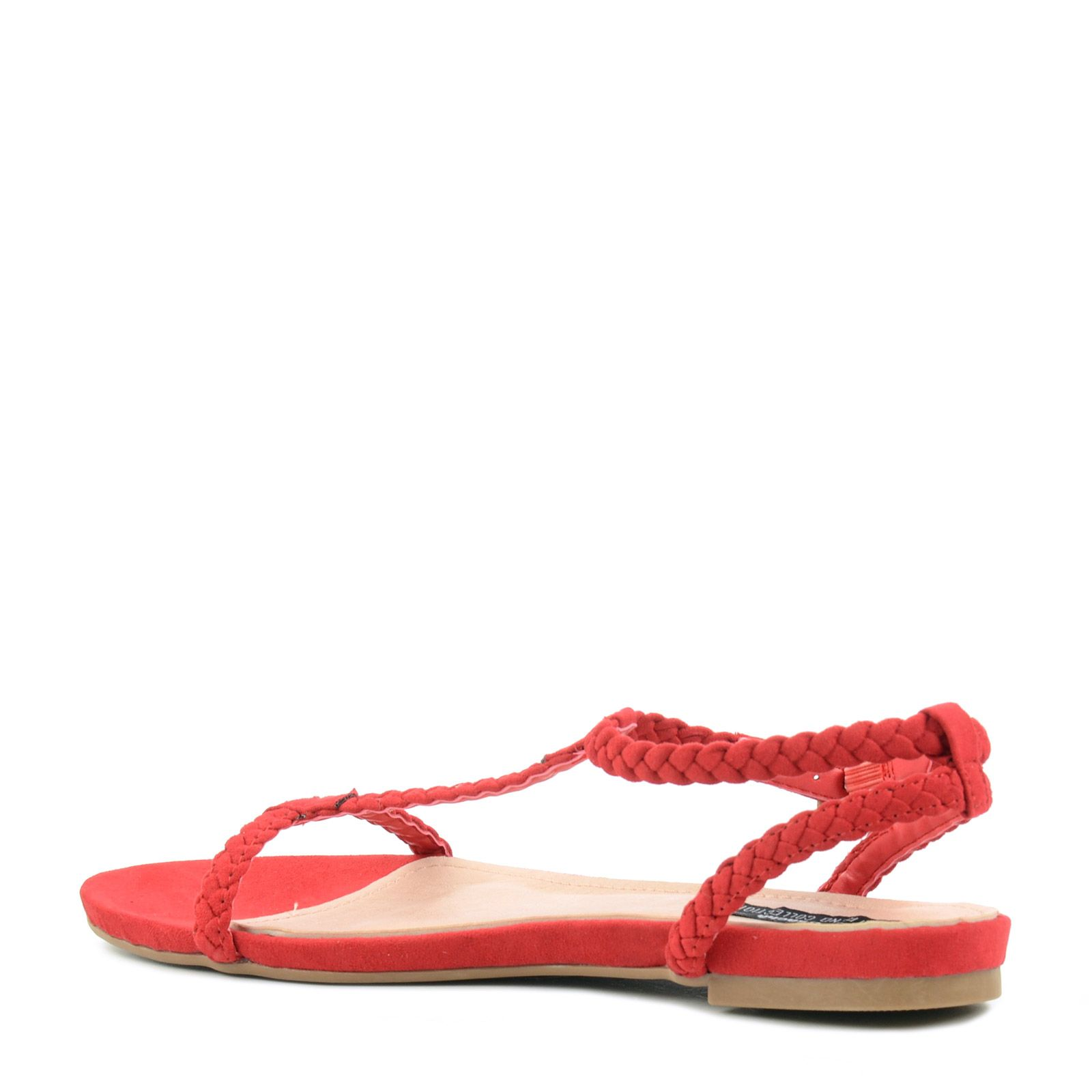 rote sandalen im minimal look damenschuhe