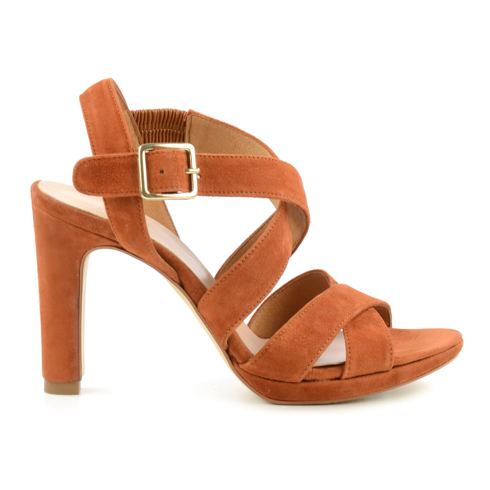 veloursleder sandalen mit absatz damenschuhe. Black Bedroom Furniture Sets. Home Design Ideas
