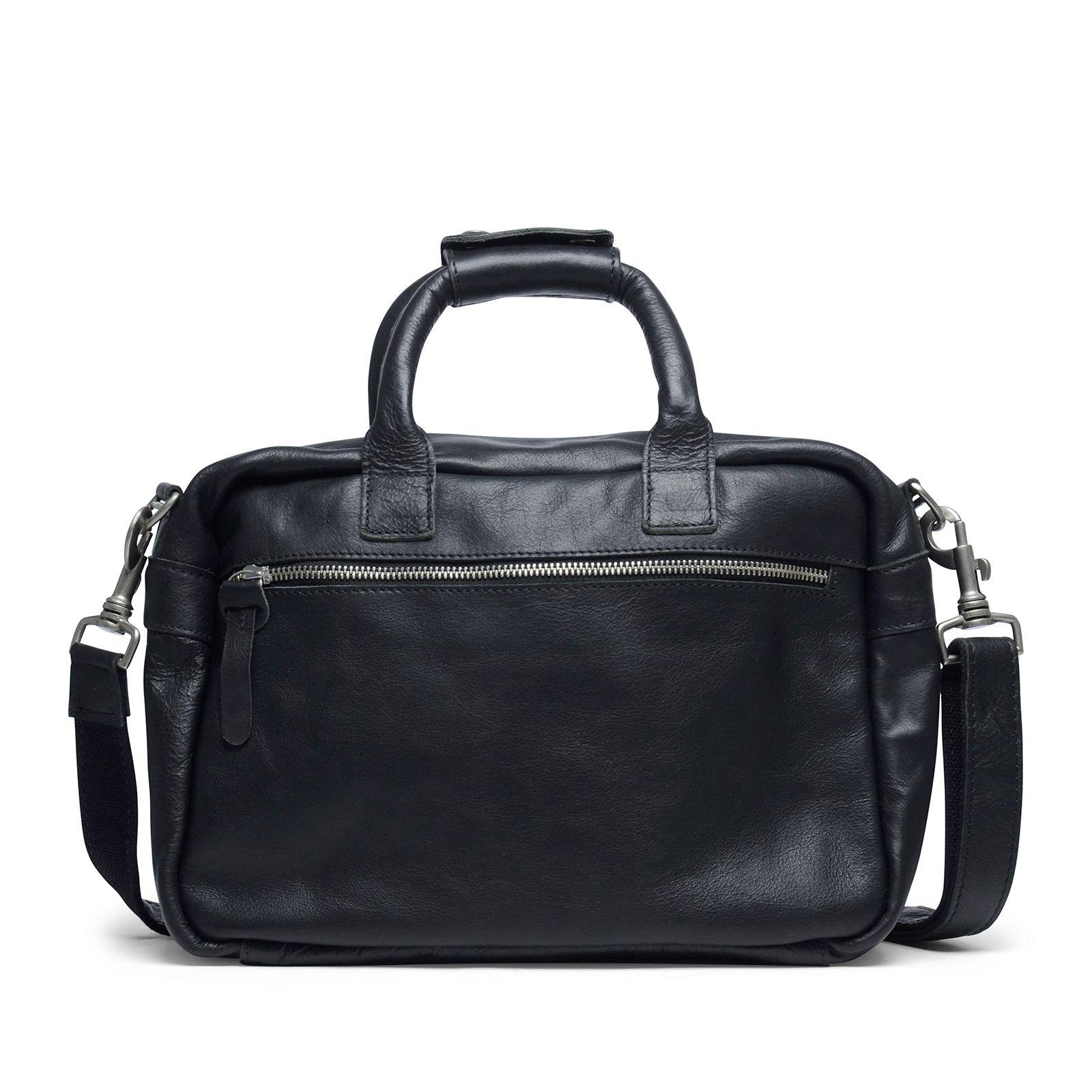 schwarze handtasche mit rei verschluss taschen. Black Bedroom Furniture Sets. Home Design Ideas