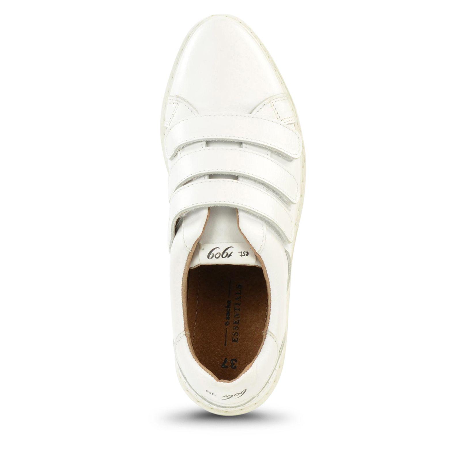 Weiße Sneaker Klettverschluss